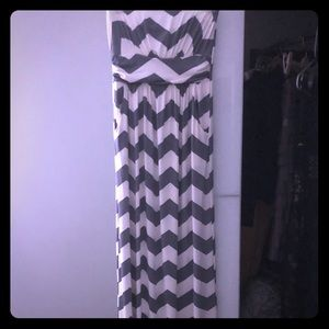 Soft and silky strapless maxi dress